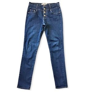 JUDY BLUE | Hi-Rise Button Fly Skinny Jeans 30x31